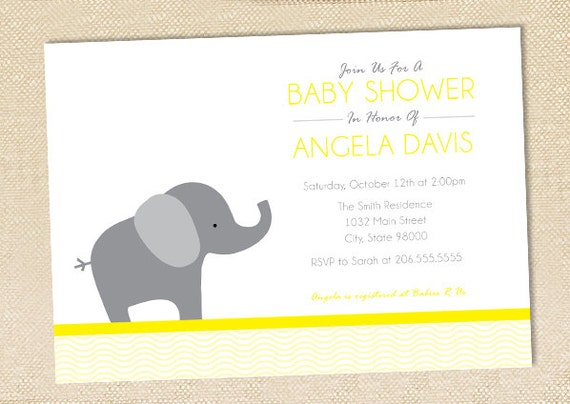 Elephant baby shower invitation set of 12 like this item filmwisefo Images