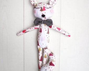 Lucky Louie :) baby toy-stuffed doll-rag doll-stuffed toy-baby shower gift-nursery decor-handmade toy-cute doll-fabric doll-ragtoy-fox doll