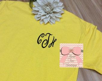 Preppy Monogram T-Shirt Monogram TShirt Custom T-Shirt Monogrammed T-Shirt Monogrammed Gifts Perfect for Brides and Bridesmaids