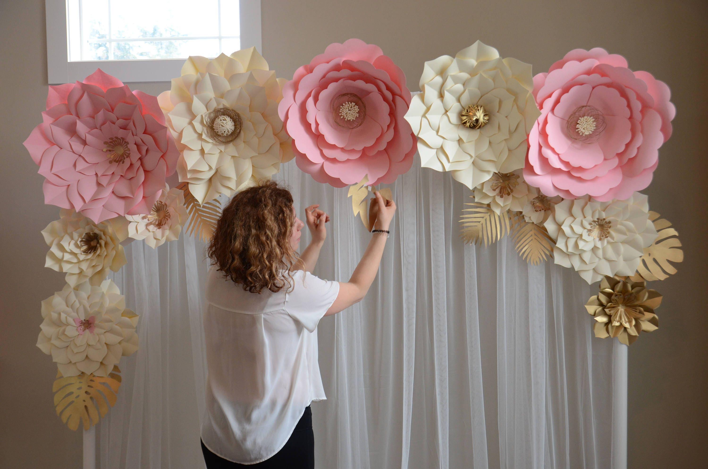 Tel N De Fondo De Flores Plantilla De Flores De Papel Flor # Muebles De Lady Lee