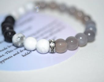 Chalcedony Bracelet with Spacers