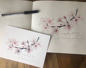 Cherry Blossoms - watercolor art print