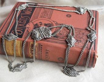 Victorian Cut STEEL Belt, RARE Antique Metal Chain Belt,  Jewelry Belt for her, Historic ReEnactment or Collector Gift