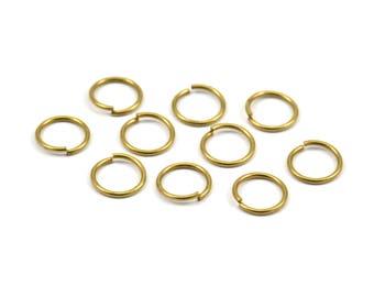 10mm Jump Rings - 100 Raw Brass Jump Rings (10x1mm) A0372