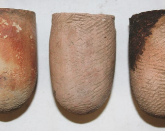 Crucibles : Rare Hand Made Crucibles for Precious Metal Smelting from Began, Myanmar #453