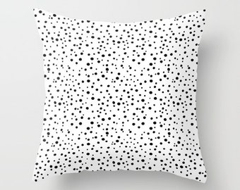 Polka Dot Pillow WITH Insert, Black and White Pillow, Polka Dot Throw Pillow, Polka Dot Bedding, Polka Dot Decor, Polka Dot Home Decor