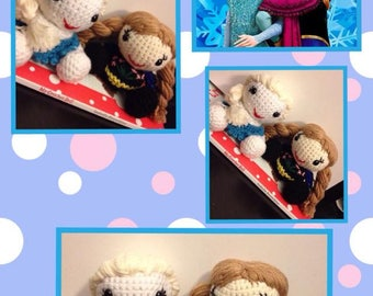 Crocheted Anna & Elsa