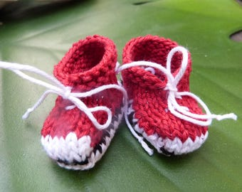 Converse red and white doll