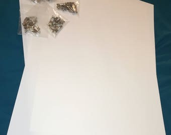 Craft Supples: 20 Shrinky Dink Sheets + 50 Pins