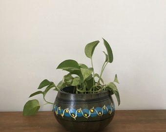 painted mexican pottery planter
