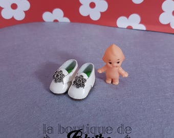 White leather shoes for Blythe doll-white leather shoes for Blythe