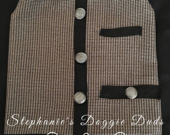 Sparkle & CoCo Houndstooth Vest