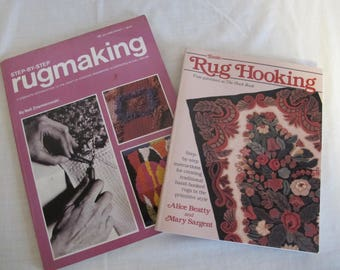 2 RUGMAKiNG RUG HOOKiNG hook BOOK craft LOT  guide ZNAMiEROWSKI BEATTy SARGENt