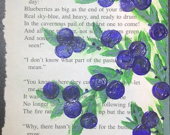 Blueberry Bush on Book Page