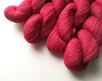 Altholz Lace Garn - Merino/Viskose/Angora/Kaschmir - rote Rose meliert