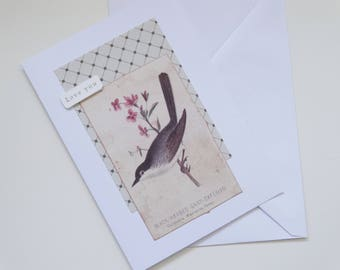 Love You - Bird Themed A6 Card