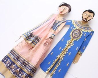 1st anniversary gift, First anniversary gift, First anniversary paper gifts, custom portrait, Paper anniversary, Indian Wedding