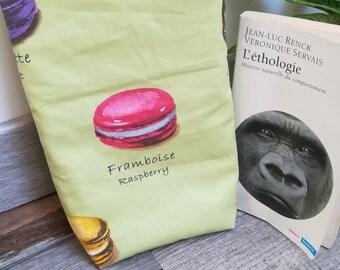 Book cover/case / book / drive, reader gift idea / model macarons