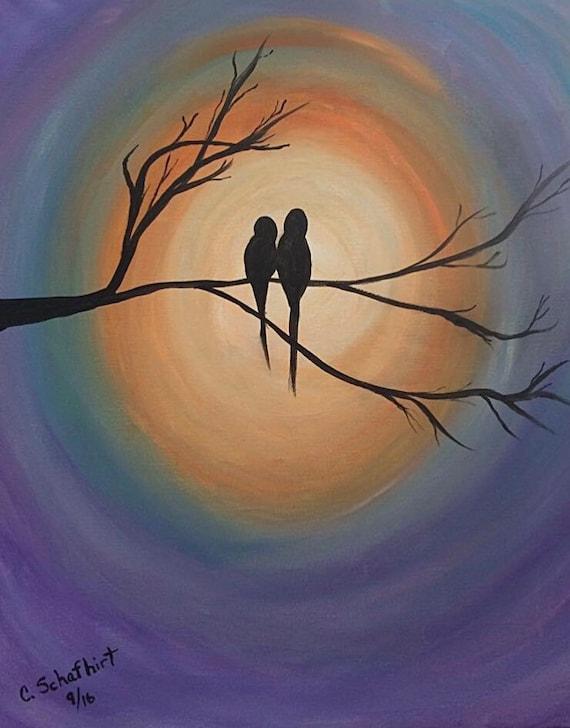 "Workshop: Painting ""Love Birds"" at Makana Art Studio - Biloxi, MS"