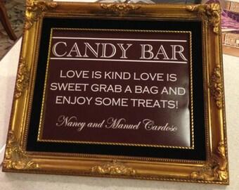 Wedding Candy Bar/Buffet Sign or Poster DIY Print Ready