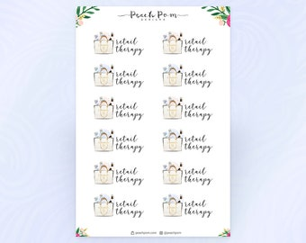 VSF - Retail Therapy Script Planner Stickers