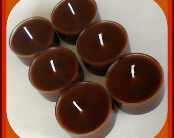 Tealight Candles - Set of 6 - Gingerbread and Spice - Free U.S. Shipping - Autumn - Fall - Christmas