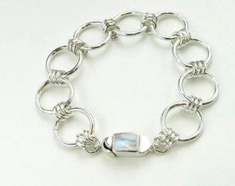 SterlingSilver big circle bracelet