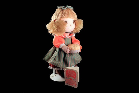Precious Moments Doll, November, Doll of the Month, 1990, Applause, Collectible, Doll Stand, Doll With Tags