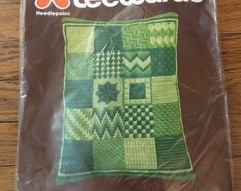 Lee Wards Needlepoint-Learners Pillow. New in original packaging from 1978!