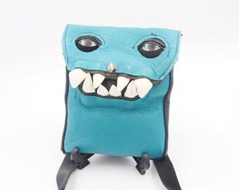Teal Flat Monster Bag