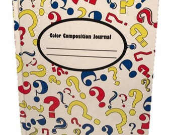 Hardcover Composition Journal Notebook with Colored Paper pages