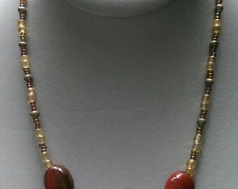 SALE Chestnut Brown Necklace