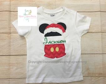 Minnie o mickey camiseta santa