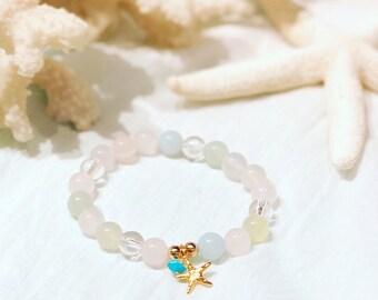 Starfish Natural Stone Bracelet Multi Color