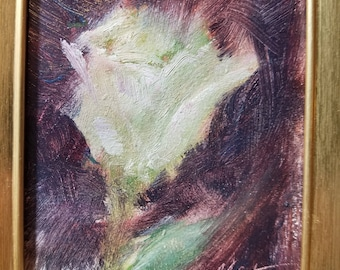 Rose, small impressionistic oil