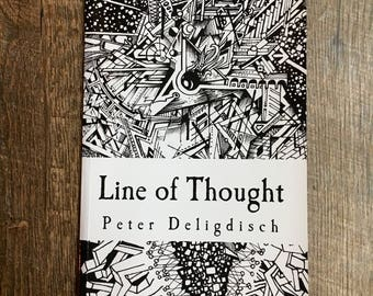 Line of Thought by Peter Deligdisch, Peter Draws, Abstract Art Drawings, Coloring Book, Art Book, Drawing Inspiration