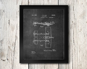 Airplane Patent Print - Aero Plane Flying Machine Wall Decor - Digital Download