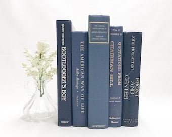 Blue Books for Shelf Decor, Home Accents