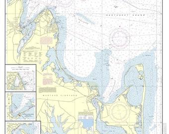 Martha's Vineyard - Eastern Part  - 2013 Nautical Map - Massachusetts - Reprint - Harbors 261