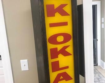 Texas Chainsaw Massacre Part 2 K-OKLA Sign autographed