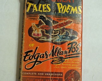 Edgar Allan Poe - The Great Tales and Poems 1940 Paperback Pocket Book Edition Unabridged