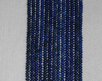 Lapis, Lapis Rondelle, Smooth Rondelle, Blue Rondelle, Semi Precious, Gemstone Rondelle, Natural Lapis, Half Strand, 6.5mm, AdrianasBeads