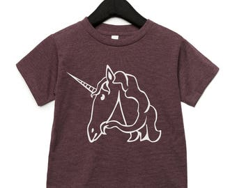 Tshirt kids printed - unicorn alphabet - pick your letter