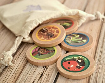 Wooden Memory Game, Kids Birthday Gift, Memory Matching Game, Toddler Gift, Montessori Toy, Toddler Game, Learning Toy, Preschool Learning
