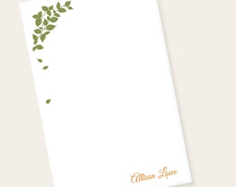 Personalized Notepad - Monogrammed Notepad - Fall Leaves