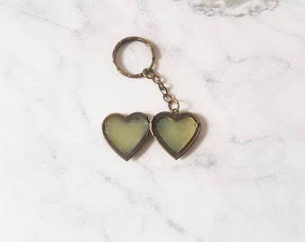Natural Lip Balm in Heart Shaped Keyring Locket (flavour of your choice)