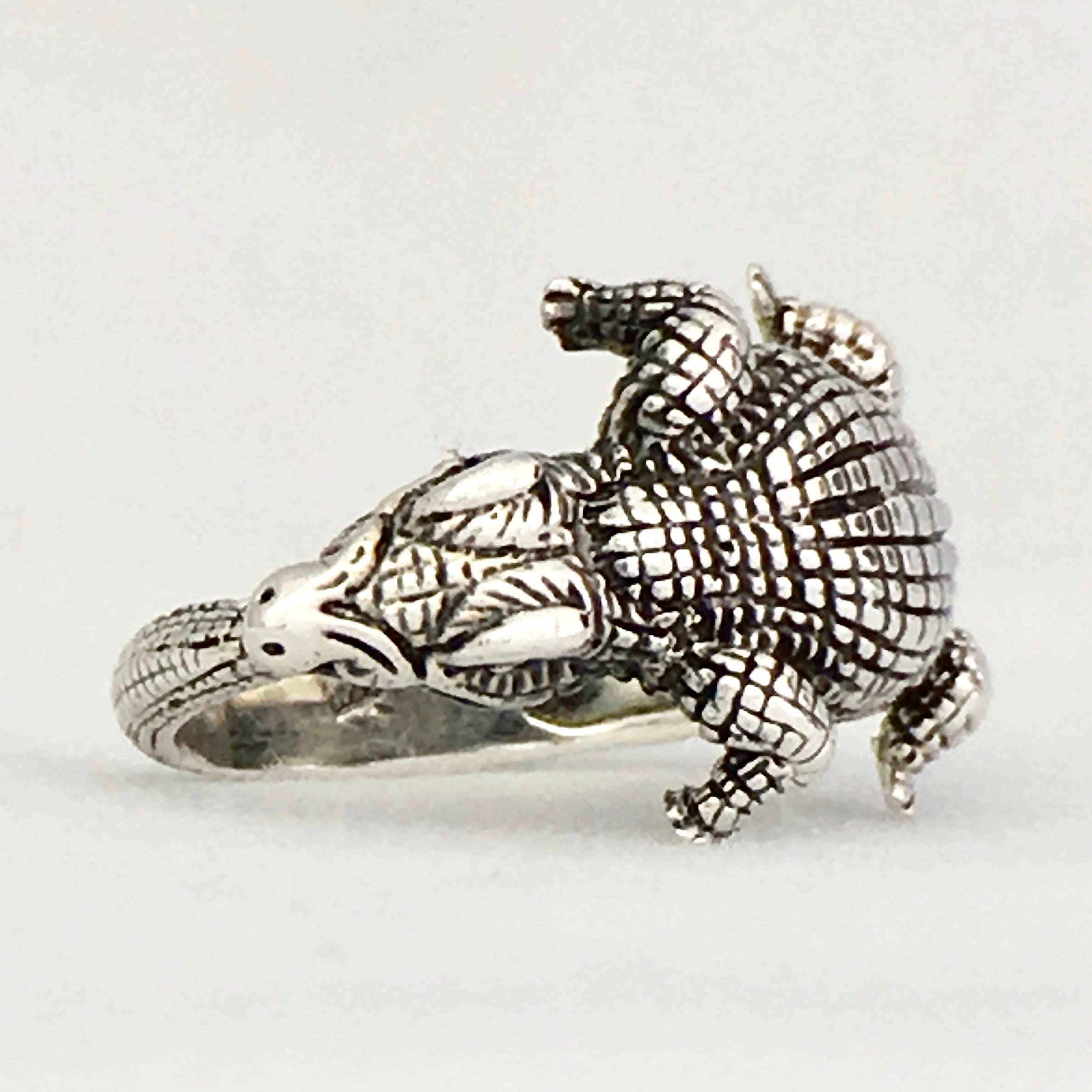 ZIPAKTLI Kaiman Krokodil verstellbarer Ring