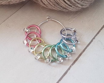 10 Piece No Snag Stitch Markers -Pastel Mix Snag free Stitch Markers for Knitting -Knitter Accessories -Stitch Marker -Knit