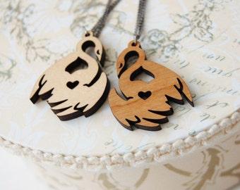 Swan Princess Pendant Necklace