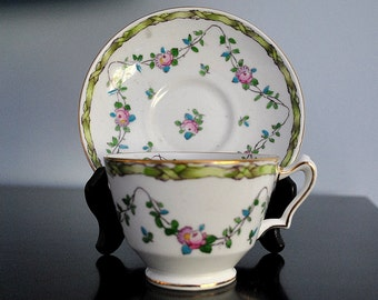Vintage Crown Staffordshire Cup and Saucer Made in England